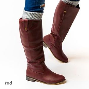 Brand new red riding boots